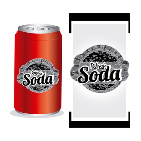 soda splash: soda design over white  background  vector illustration