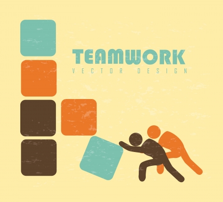 teamwork design over cream background vector illustration