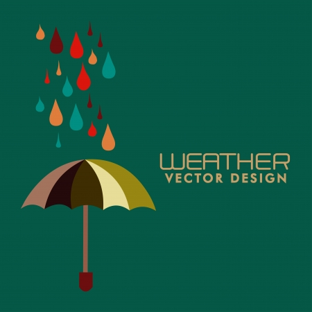weather design over green background vector illustration  Vector