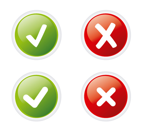 yes no: signs ratings over white background vector illustration