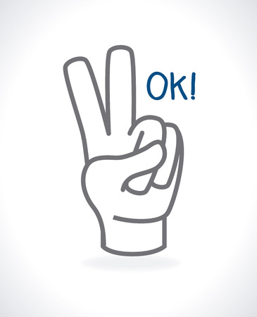hands gesture over gray  background vector illustration Vector