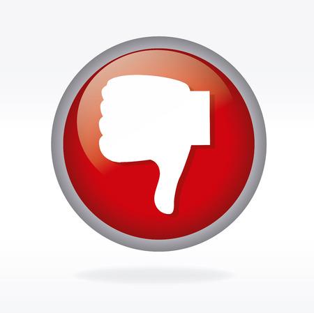 unsuccess: unlike icon over white background.vector illustration  Illustration
