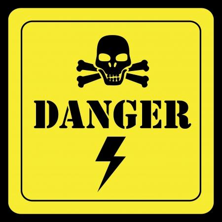 danger design over yellow background vector illustration Stock Vector - 24319869