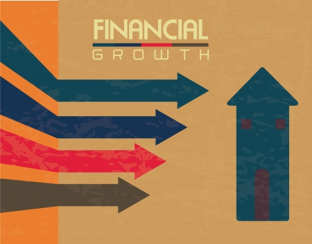 identifiers: financial growth over pattern  background vector illustration  Illustration