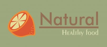 drinkseal: orange citrus fruit  over green  background vector illustration  Illustration