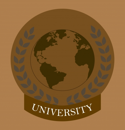university  design over brown  background vector illustration  Vector