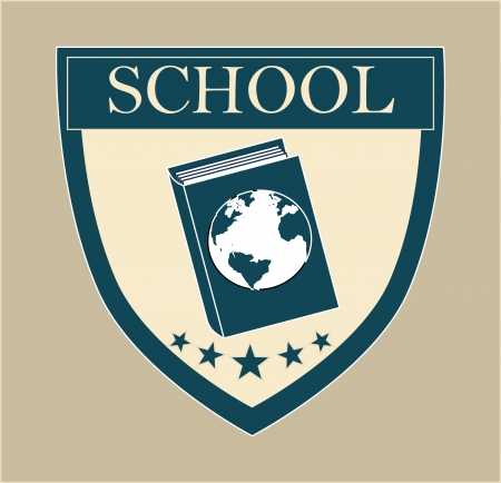 school design over beige background vector illustration  Vector