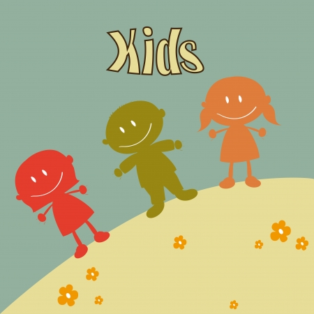 kids design over blue background vector illustration Vector
