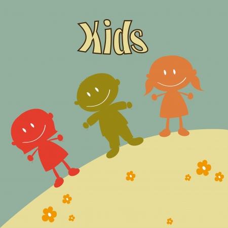 camaraderie: kids design over blue background vector illustration Illustration
