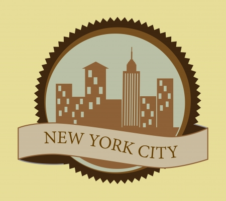 new york design over cream background vector illustration Vector