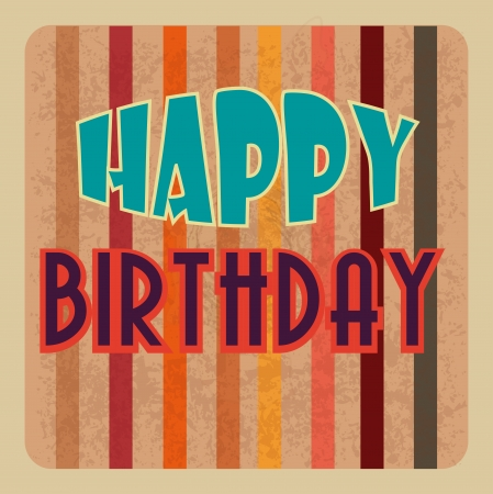 backgrund: birthday  design over lineal  backgrund vector illustration