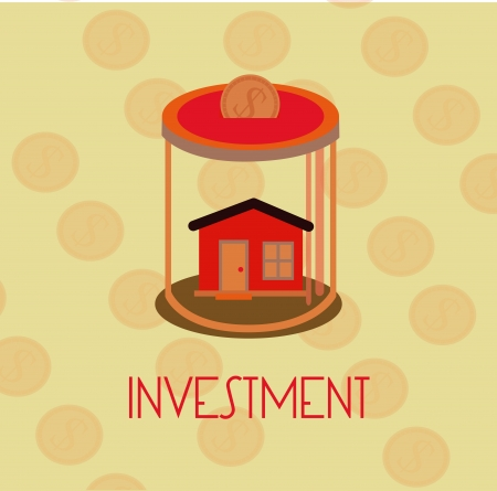 investment design over dotted  background vector illustration  Vector
