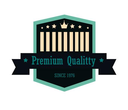 premium quality over white background vector illustration  Vector
