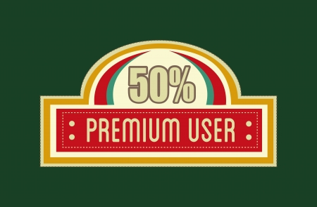 top 50 icon: premium quality over green background vector illustration