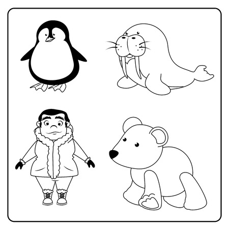 antarctic: arctic design over white background vector illustration