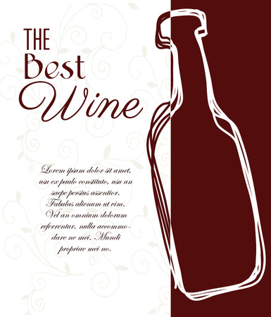 wine design over white background vector illustration  Vector