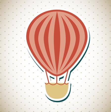 inflar: dise�o de globo sobre fondo punteado ilustraci�n vectorial Vectores