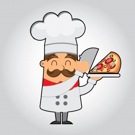 chef icon over gray background  vector illustration   Vector