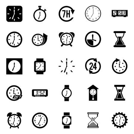 conception du temps sur fond blanc illustration vectorielle Vecteurs