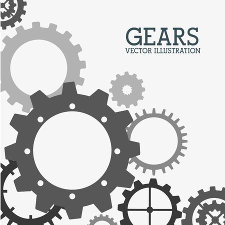 consept: gears design over  white  background vector illustration