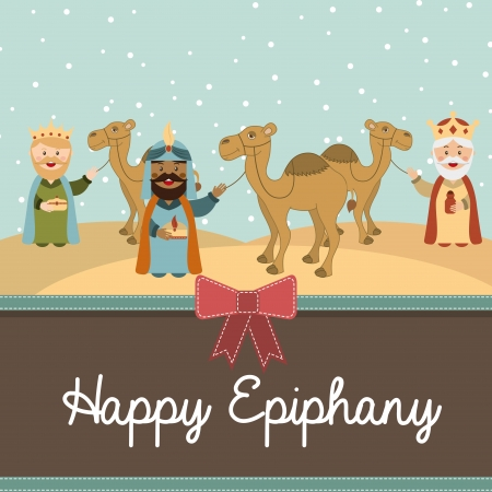 balthasar: happy ephipany over  sky background vector illustration