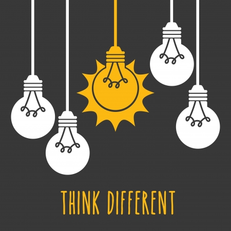 connecting: bulbs design over gray background vector illustration Illustration