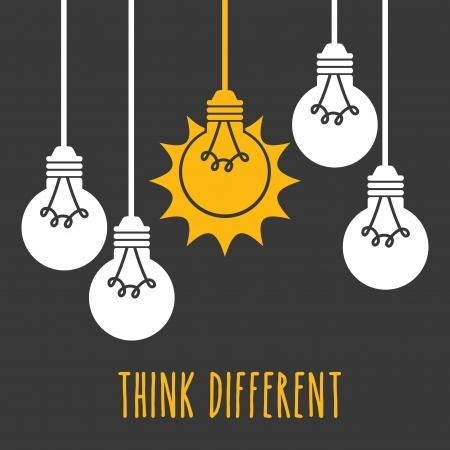 diseño de bombillas sobre fondo gris ilustración vectorial