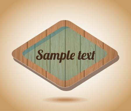 wooden label  over vintage background vector illustration Stock Vector - 24459559