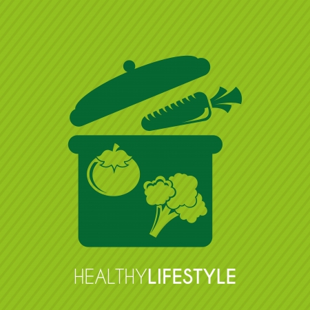 cocking: healthy lifestyle over green background vector illustration