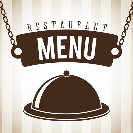menu design over lineal  background vector illustration