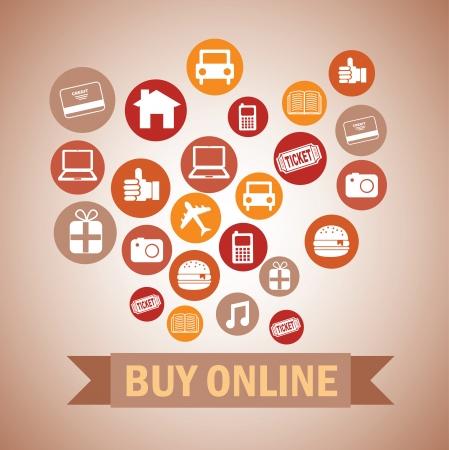 ecommerce design over pink  background vector illustration   Stock Vector - 24459842