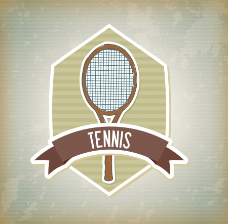 tennis design over vintage  background vector illustration Vector
