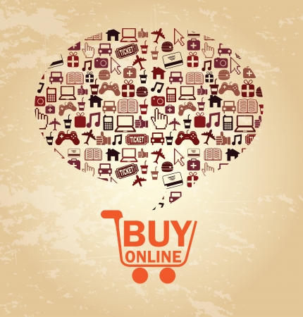 ecommerce design over pink  background vector illustration Stock Vector - 24459883