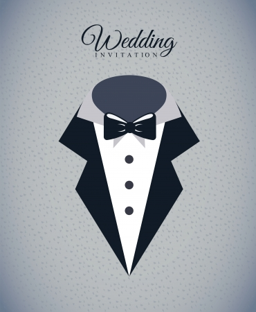 wedding design over gray background vector illustration Vector