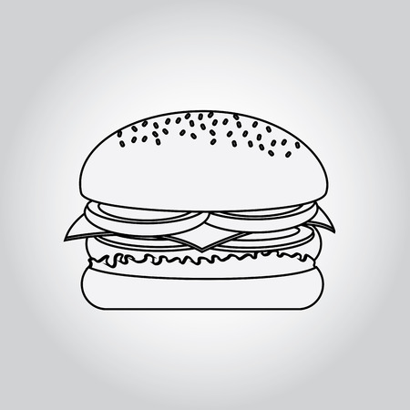 fast food design over gray background vector illustration Vector