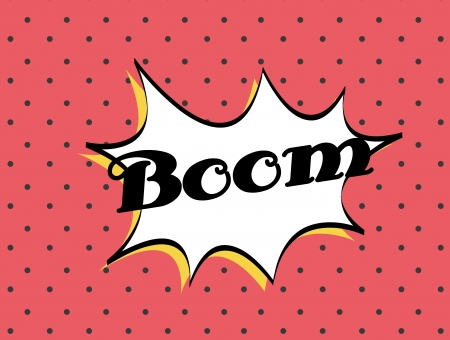 boom pop art explosion over dotted background. vector illustration Stock Vector - 24460130