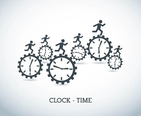 time design  over blue background vector illustration