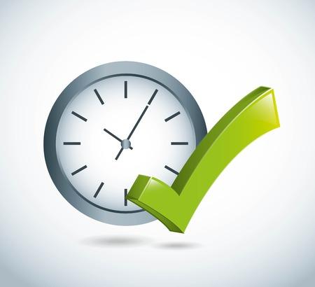 conception du temps sur fond gris illustration vectorielle