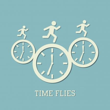 time design  over blue  background vector illustration   Illustration