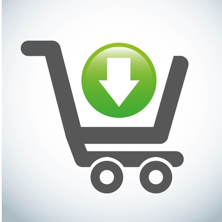 add to cart: add to cart over gray   background. vector illustration