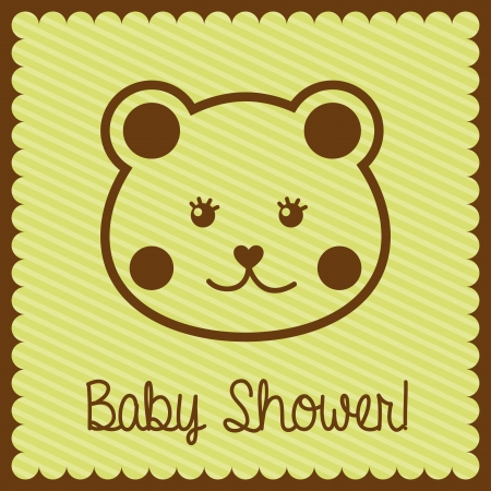 baby design over lineal  background vector illustration Vector