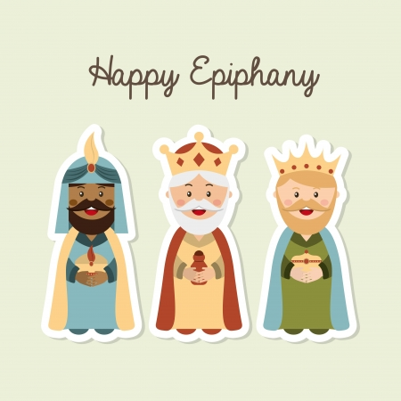 balthasar: happy ephipany over  background vector illustration Illustration