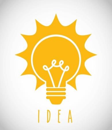 inventions: bulbs design over gray background vector illustration Illustration