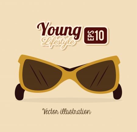 young design over pink background vector illustration Vector