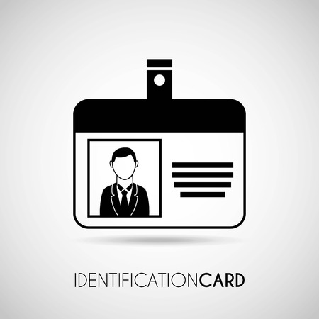 identification card over gray background vector illustration Vector