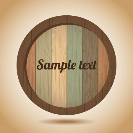 wooden label  over vintage background vector illustration  Illustration