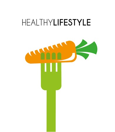 healthy lifestyle: healthy lifestyle over white background vector illustration