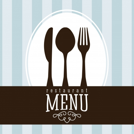 menu design over lineal  background vector illustration    Vector