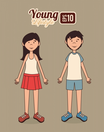 young design over  beige background vector illustration Vector