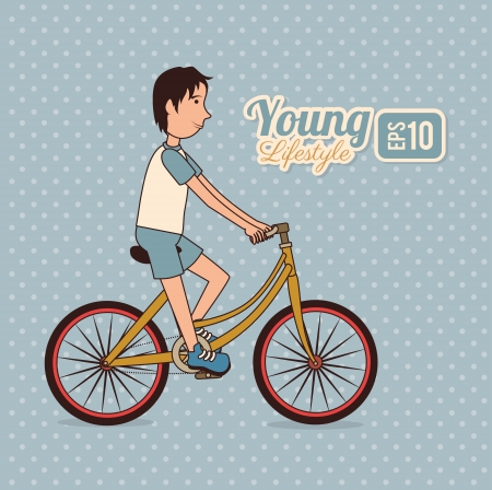 young design over dotted background vector illustration Vector